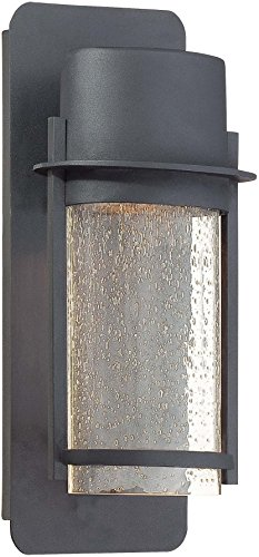 Minka Lavery Modern Outdoor Wall Light 72251-66 Artisan Lane Exterior Wall Lantern, 35 Watts Halogen, Black