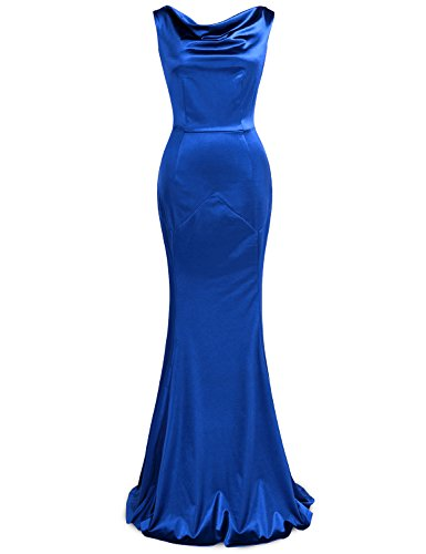 MUXXN Women's Gorgeous V Back Neckling Wedding Dress (Color Blue M)