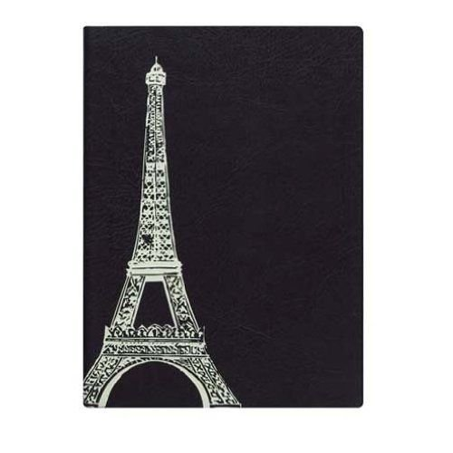 Eccolo World Traveler Journal Essential Collection, Eiffel Tower, 5 x 7 Inches (D307Z)