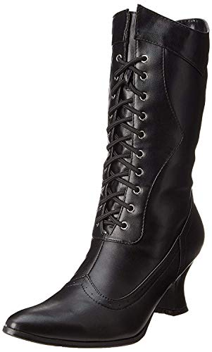 Ellie Shoes Women's 253 Amelia Victorian Boot, Black Polyurethane, 8 M US
