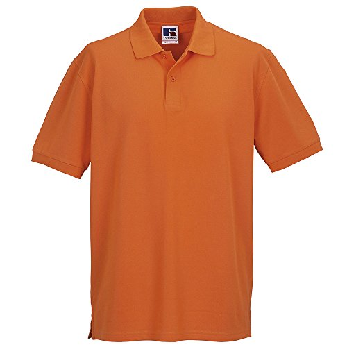 Russell Collection Mens 100% cotton Polo Shirt