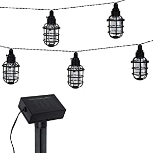2 Pack Solar Cafe Light Set 14 Ft – Black Plastic – Landscape String Lighting – Solar Powered, Weather Resistant, – for…