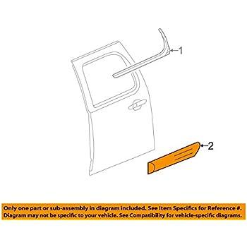 Genuine GM 15866389 Door Molding Kit Center Rear