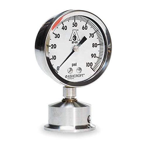 D1017 Pressure Gauge 0 to 200 psi 2-1//2In