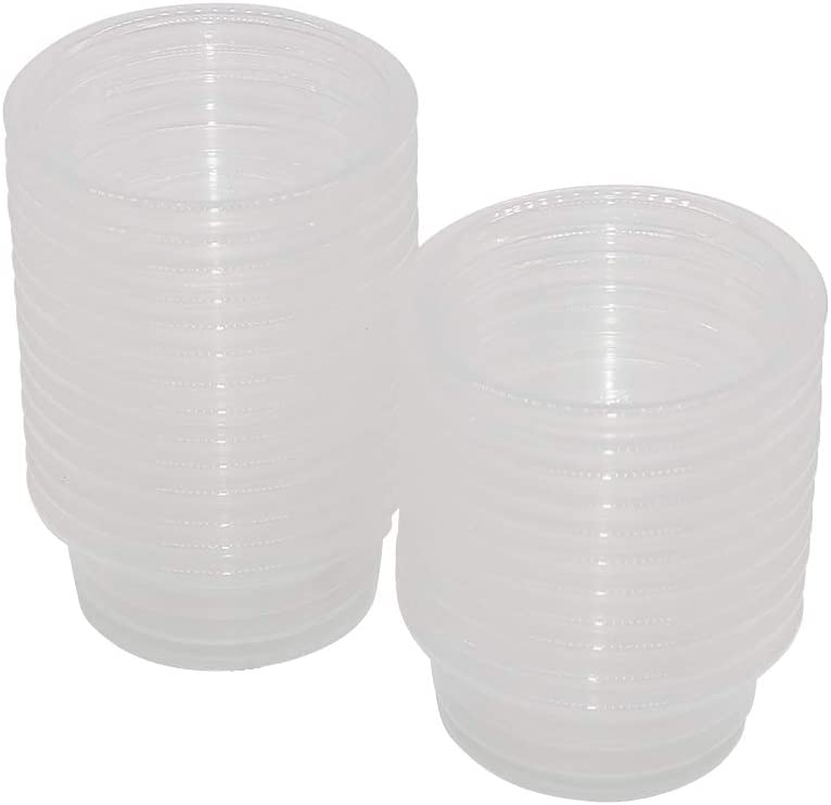SLSON Small Gecko Food and Water Cups 100 ct Plastic Feeder Cups for Reptile Feeding Bowls for Crested Gecko Lizard and Other Small Pet, 0.5 oz