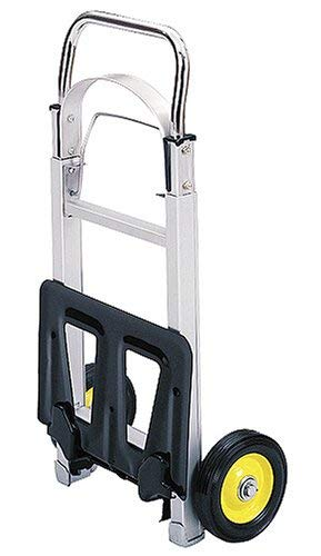 Safco Products 4061 Hide-Away Collapsible Utility Hand Truck, Silver/Black