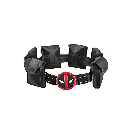Valley Railway Deadpool Cosplay Belt with Metal Buckle Halloween (Deadpool Cosplay Buy)