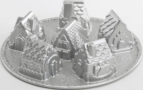 COZY VILLAGE Cake Tin - Platinum Series - by Nordic Ware - for Bundt and other cakes, jelly, savoury