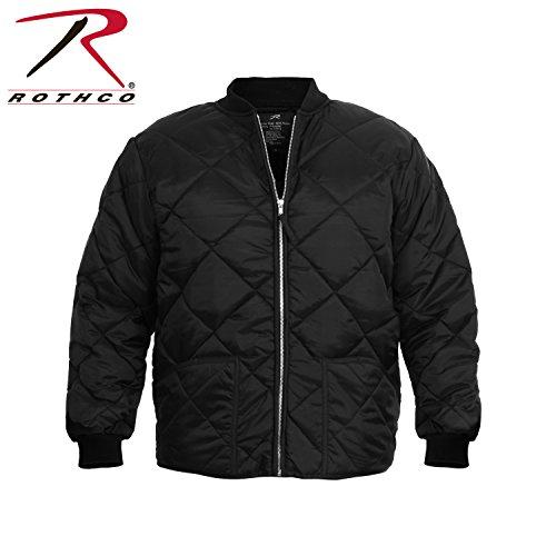 Bomber Nylon Quilted Jacket (Rothco Diamond Quilted Flight Jacket, Black, XX-Large/3X-Large/4X-Large)