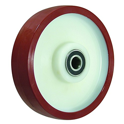 BIL BZXH100WPNBJM15 Series WXPN Wheel, Polyurethane On Nylon, 100 mm Diameter, 40 mm Tread, 40 mm Hub, 15 mm Bore, 300 kg Load, Brown BIL Group Ltd