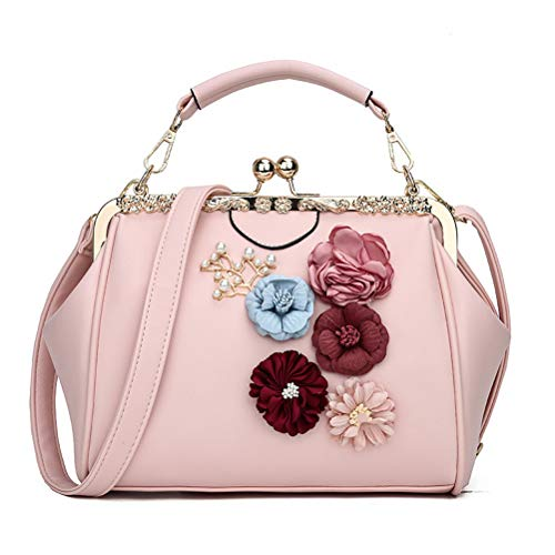 (Donalworld Women Retro Hollow out PU Leather Handbag L Flp)