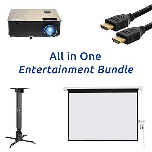 ABIS Home Cinema Projector Screen Packages Office Screen Bundle Theater Package Deals UK Complete With Speakers Ceiling…