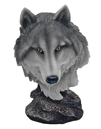 Pack Leader Wolf Head Bust by World Of Wonders