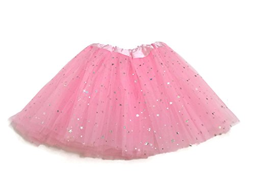 Rush Dance Ballerina Girls Dress-Up Sparkling Stars Sequins Costume Recital Tutu (Kids (2-8 Years Old), (Child Pink Ballerina Costumes)