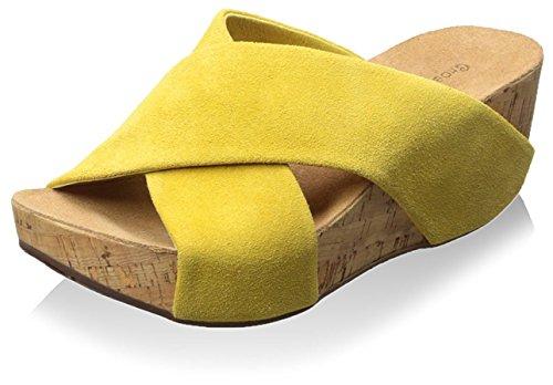Sandal Cork Women's Chocolat Mackenzie Yellow Blu wqzn4t4Ig
