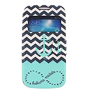 ZL The Waves Ships Anchor Pattern PU Leather Full Body Case for Samsung S4 Mini I9190