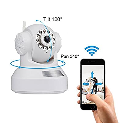 INKERSCOOP 720P IP Wireless Camera Surveillance Camera with WiFi Camera with Two Way Audio, Night Vision, Baby Video Baby Monitor, P2P Movement Detection Camera