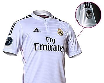 Adidas Camiseta Real Madrid Champions 1ª 2014-15: Amazon.es: Deportes y aire libre