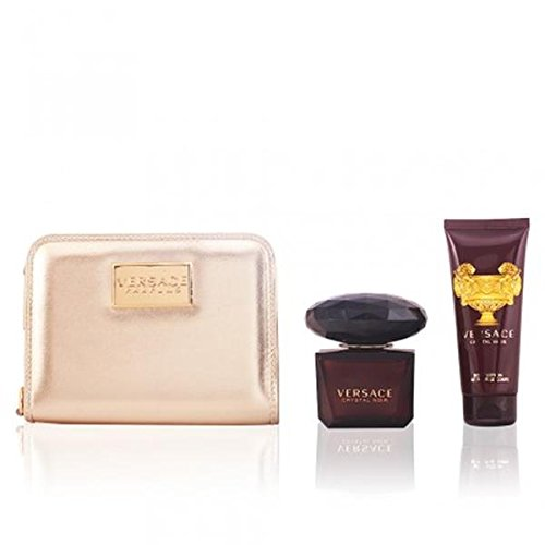 Versace Crystal Noir Gift Set 3 Pieces [ 3.0 Fl. Oz. Eau De Toilette Spray + 3.4 Oz. Body Lotion + Bag ] Women