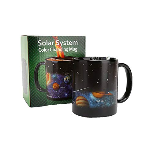 (TA BEST Heat Changing Solar system Mug - Add Hot Coffee or Tea and Solar system Appear - Comes in a Fun Gift Box)
