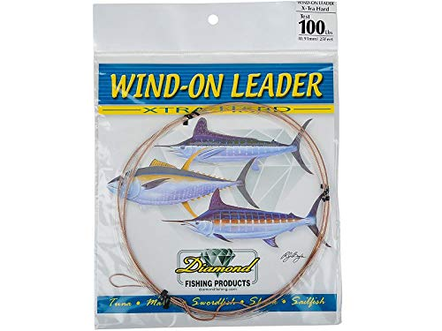 Melton Tackle Diamond X-tra Hard Mono Wind-On Leader - 250lb. test