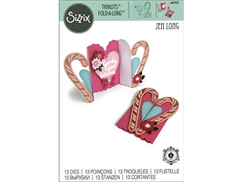 Poinsettia Candy - Sizzix Jlong Thinlits Die Fold-a-Long Candy Cane JL Thinlitsdiefold-a-Longcandy