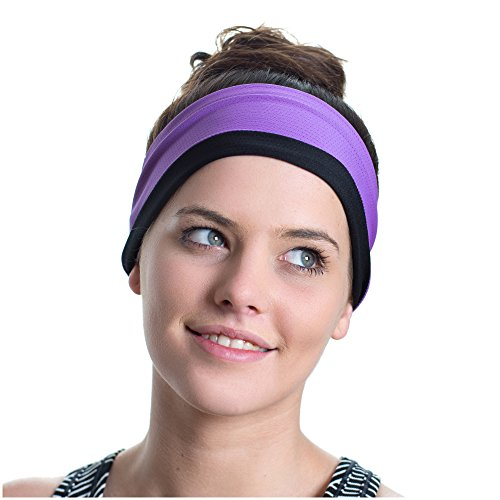 Sports Headband, Reversible - Red Dust Active - Moisture Wicking - Non-Slip - Exercise Sweatband - Ideal for Fitness Workouts, Running, the Gym & Yoga - Designed for Versatility & the Active Women