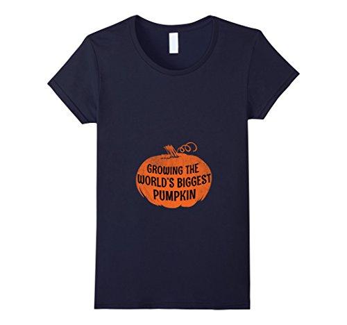 Womens Halloween Pregnancy Announcement Shirt Gift Cute Funny XL Navy (Halloween Pregnancy Announcements)