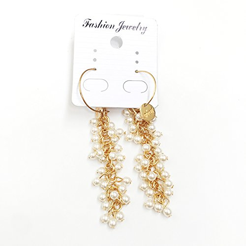 Gold net long section of red ear hook pendant Ja and South Korea personalized multi-pearl grape earrings female hypoallergenic natural freshwater pearls