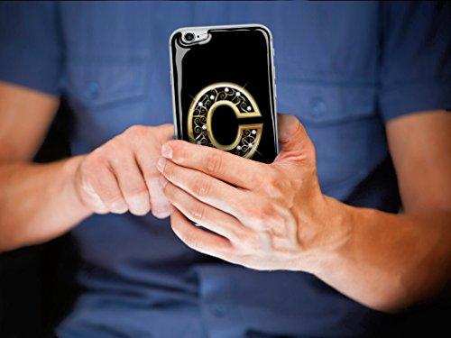 Skino™ Custodia Skin 3D Anti-Gravità Case Cover Resina Gel per iPhone 5 / 5s / 5 SE / 6/6 Plus / 6s / 6s Plus / 7/7 Plus Anti-Scratch Protezione 100% UV Antiscivolo Letter Gold Lettera Doro C (iPhone