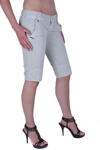 di Bermuda Diesel 28 Shorts Donna o Griglia Grigio ventilazione Beige Grigio Tgl F5wqwIr4