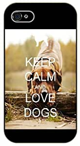 iPhone 5 / 5s Keep calm and love dogs #2 - black plastic case / Keep calm, funny, quotes