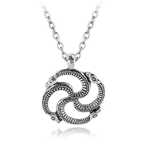 Solar Pendant Serpentine Pendant Baltic Swastika Solar Symbol Viking Men's Necklace for Men Vintage Jewelry Surprise Gift