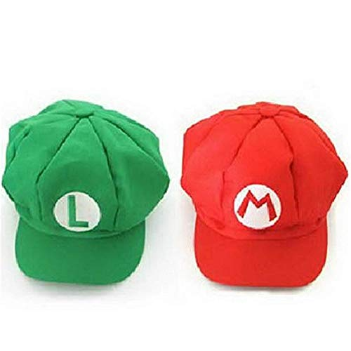 (Luckystone Super Role Play Bros Hat, Mario Luigi Cap)