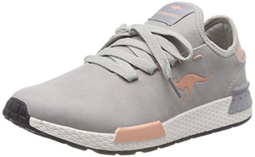 KangaROOS W-800, Baskets Femme Gris (Vapor Grey/English Rose 2043)
