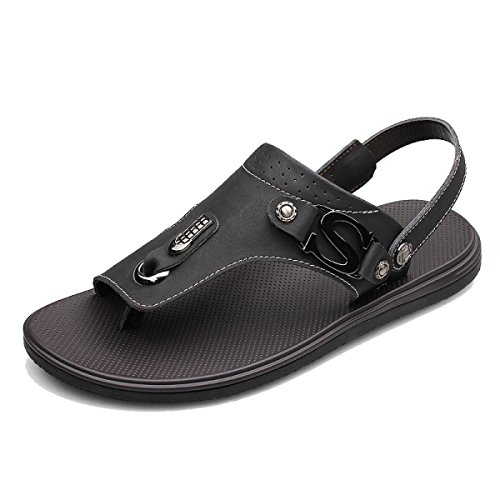 Summer Men's Personality Breathable Sandals Beach Shoes Multi-color Multi-size Black YOsAeaCIT