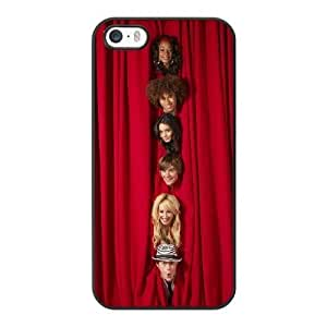 Generic Fashion Hard Back Case Cover Fit for iPhone 5 5S Cell Phone Case black High School Musical with Free Tempered Glass Screen Protector NUR-1736448
