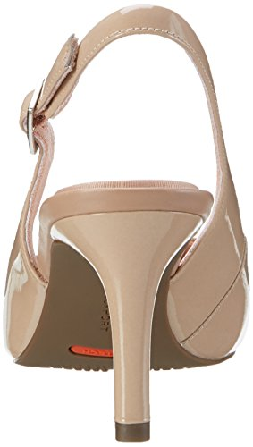 Rockport Tm75mm Pointy Toe Pump Sling - Tacones Mujer Beige (warm Taupe Patent)