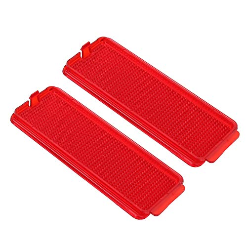 7BLACKSMITHS 2 Pcs Red Premium Front or Rear Door Reflector with Ford 1999-2007 F250 F350 F450 F550 & 2000-2005 - Safety Red Reflector Rear