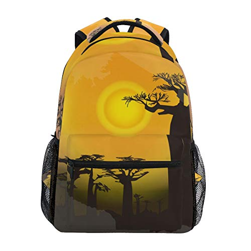 MONTOJ Postcard Tanzania Travel Bag Campus Backpack
