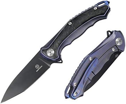 DEFCON Jungle Knife Series S35VN Blade Titanium EDC Folding Pocket Tactical Knife