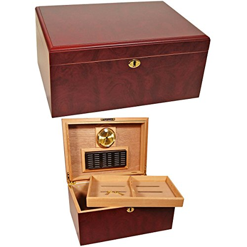 $64.99 cuban crafters humidor Bargain Humidors Clasico Rosa Rosewood Desktop Humidor for 100 Cigars 2019