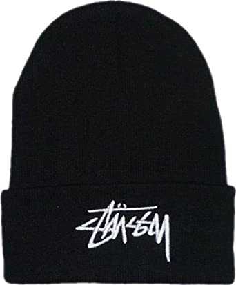 STUSSY beanie(black.white logo)  Amazon.co.uk  Clothing 0756ca30b