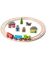 Bigjigs Rail My First Wooden Train Set Start Railway Play Set Track Small