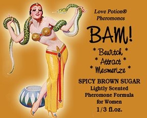 Love Potion® BAM! Spicy Brown Sugar ~ 1/3 Fl. Oz. Lightly Scented Pheromone Blend for Women