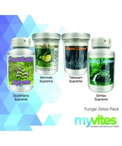 Supreme Nutrition Anti-Fungal Detox Herb 4 Pack - Morinda Supreme, Takesumi Supreme, Smilax Supreme and Scutellaria Supreme by Supreme Nutrition