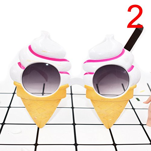 TUANTUAN 1 Pcs Funny Cupcake Shape Party Glasses Hawaiian Tropical Sunglasses for Summer Fancy Dress Party Costume Photo Props (Cake Fancy Dress Costume)