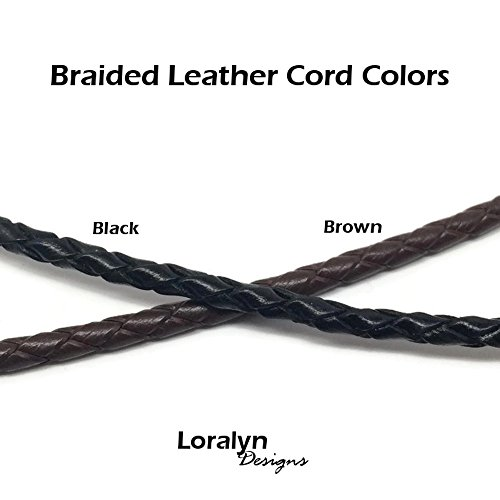 8f8f127980e56 3mm Men s Brown Braided Leather Necklace Cord with Stainless Steel Lobster  Clasp (20 Inches)