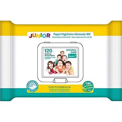 Salustar - Toallitas húmedas wc con tapa para junior