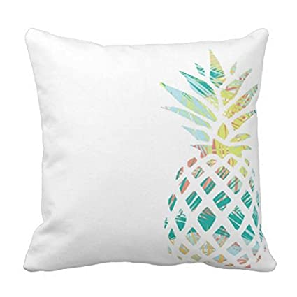 Modern Decorative Pillow Cover Canvas Tropical Pineapple Palm Pillow Case  For Sofa Square Couch Cushion Cover